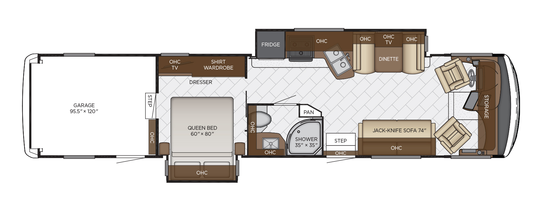 2020 Newmar Canyon Star 3927 Floor Plan