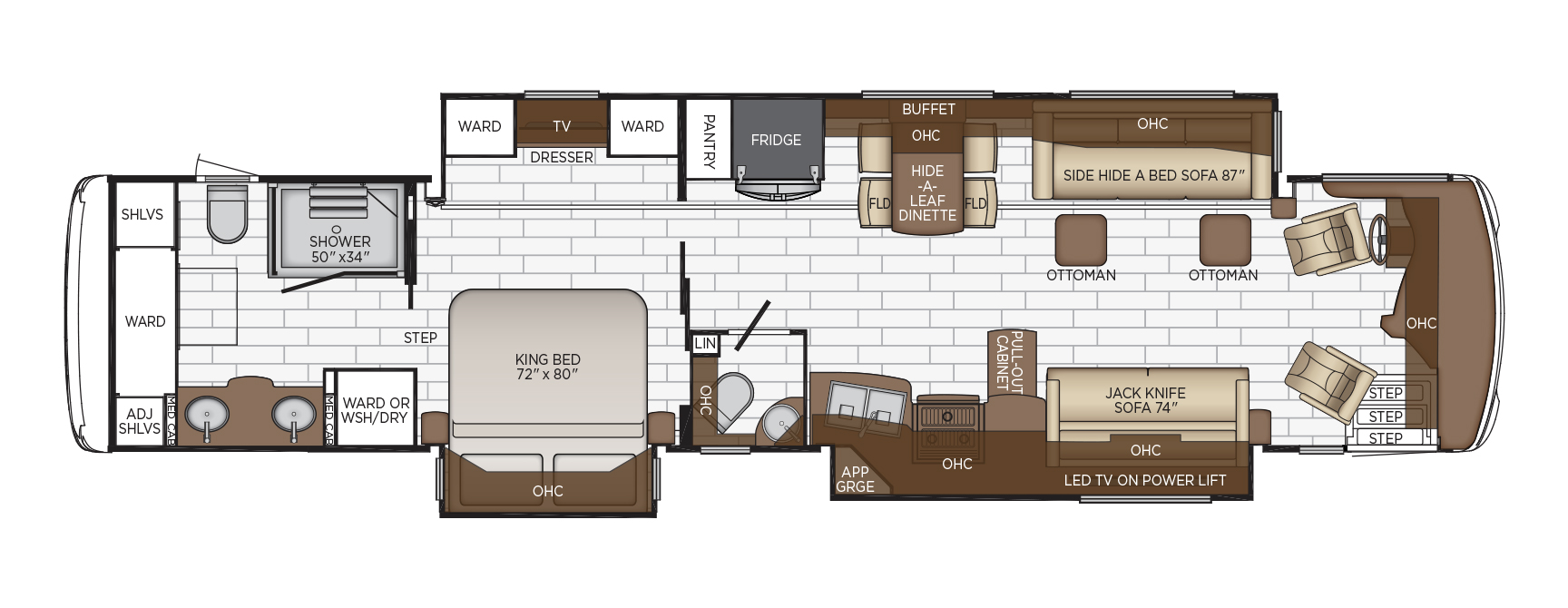 2020 Newmar Dutch Star 4369 Floor Plan