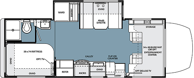 2015 Forest River Solera 24S Floor Plan