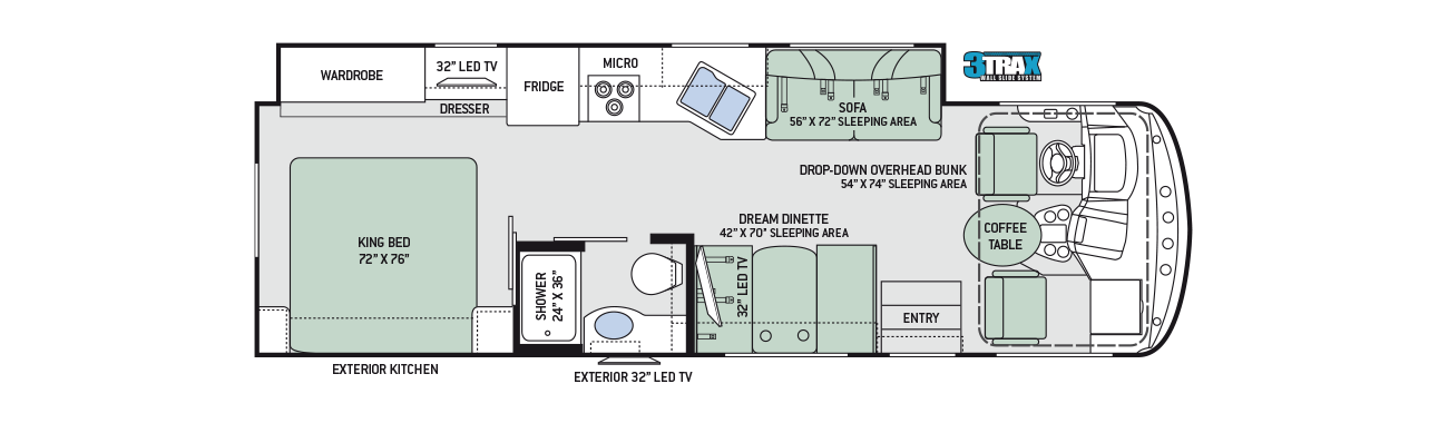 2017 Thor Windsport 29M Floor Plan