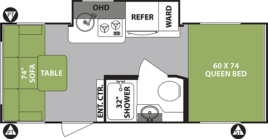2019 Forest River R-Pod 189 Floor Plan