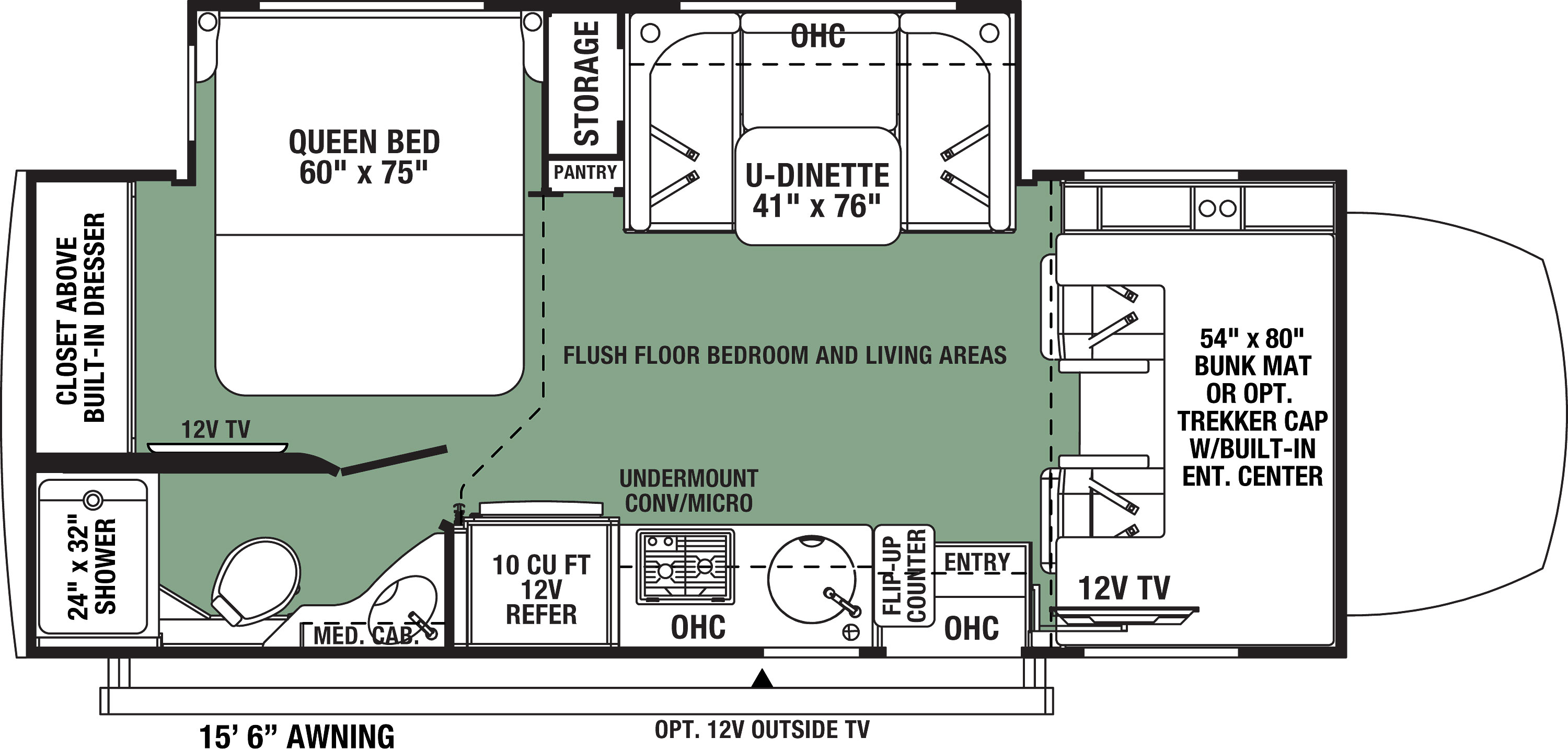 2021 Forest River Forester MBS 2401B Floor Plan