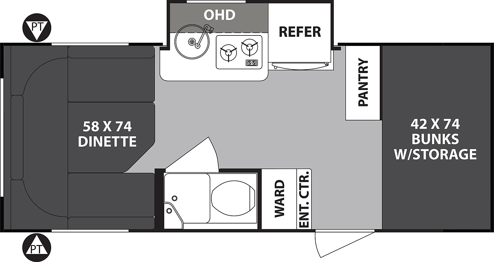 2019 Forest River R-Pod 176 Floor Plan