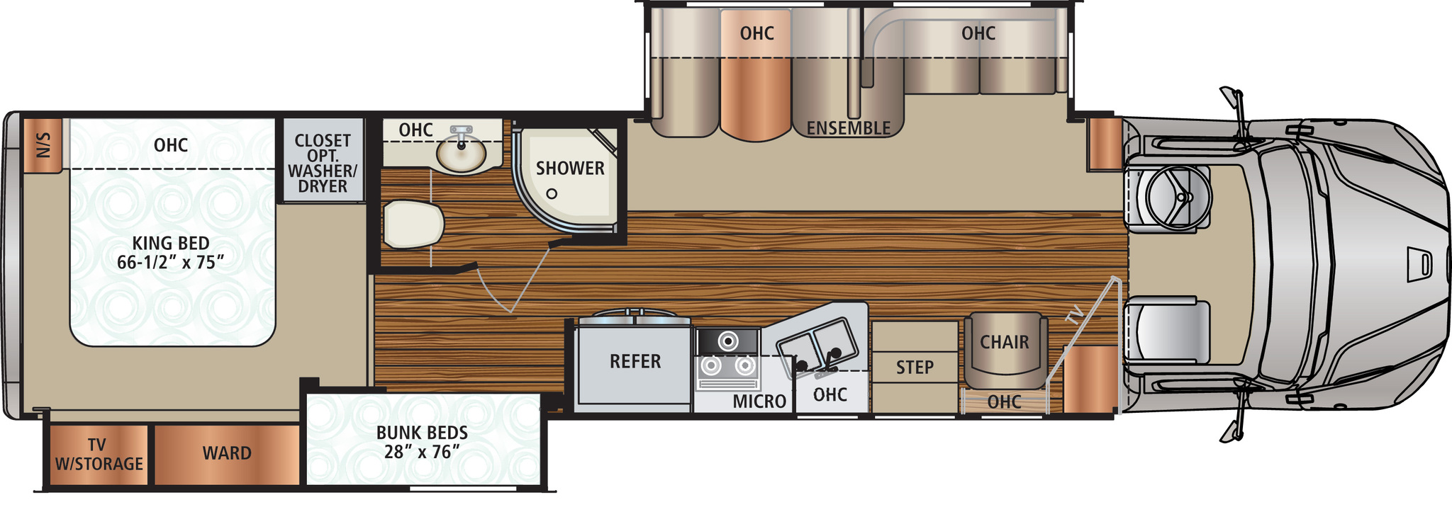 2014 Dynamax DX3 37BH Floor Plan