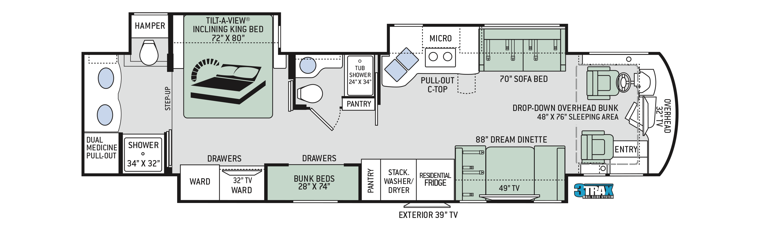 2019 Thor Aria 4000 Floor Plan