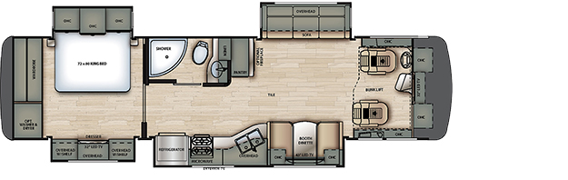 2020 Forest River Berkshire 34QS Floor Plan