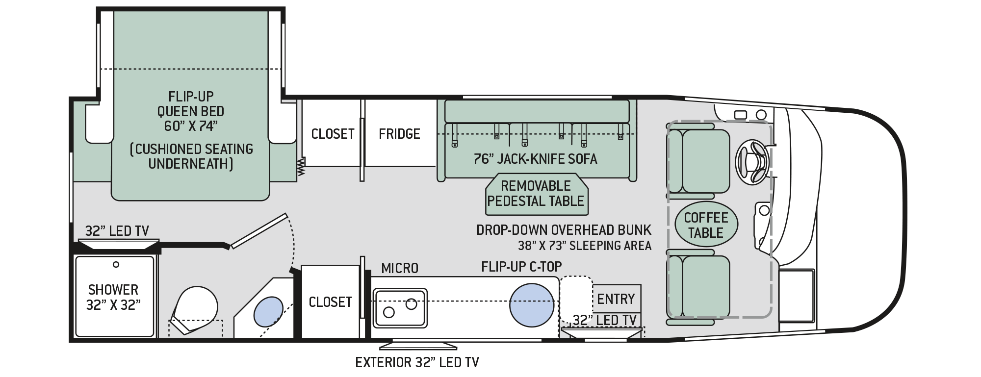 2018 Thor Vegas 25.3 Floor Plan