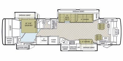 2011 Tiffin Phaeton 36QSH Floor Plan