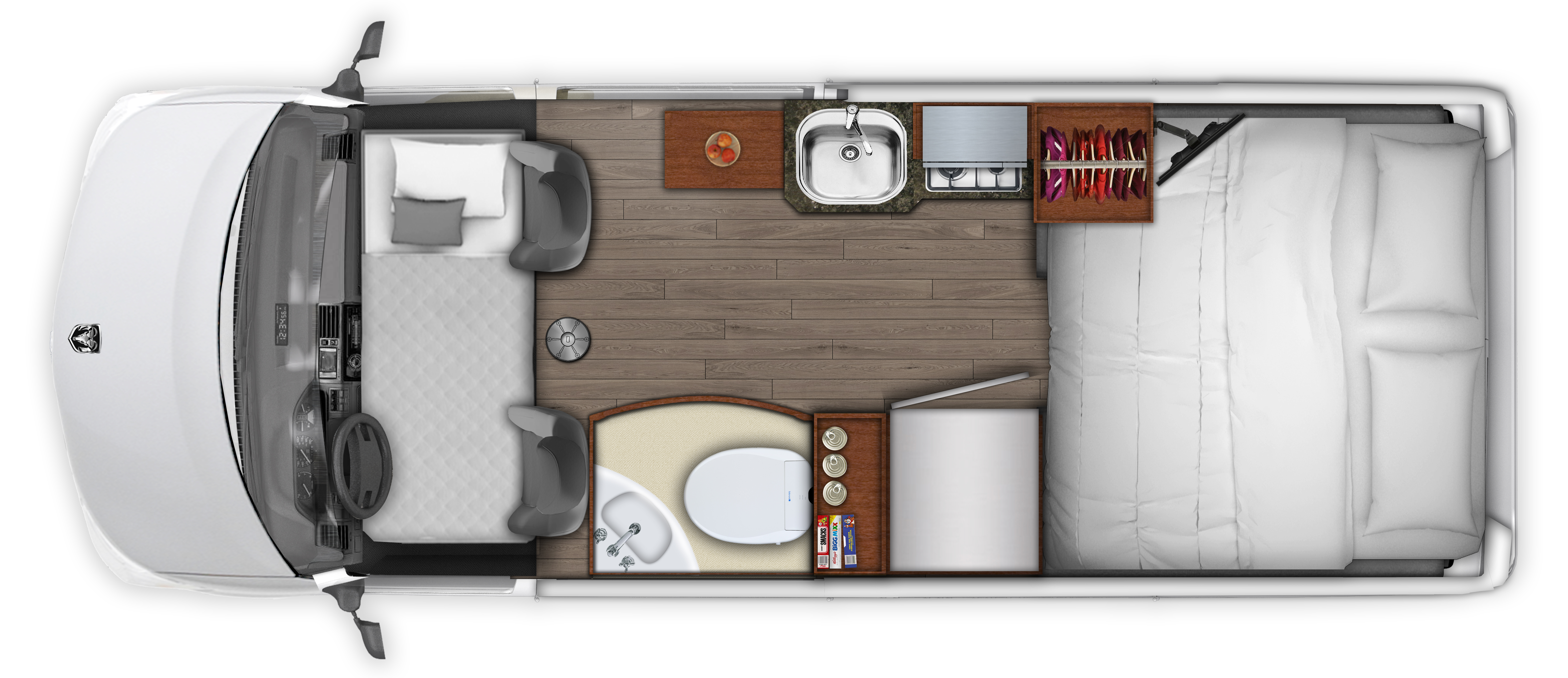 2019 Roadtrek Zion Floor Plan