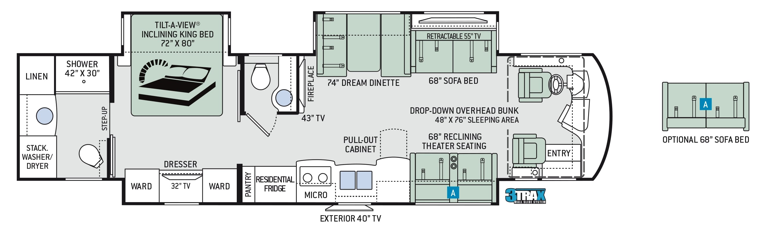 2019 Thor Aria 3901 Floor Plan