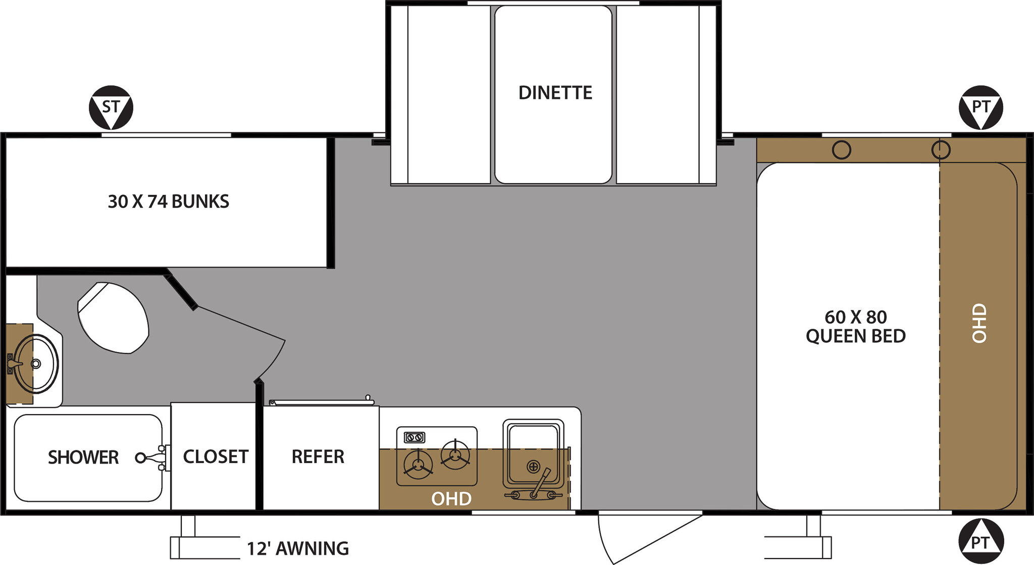 2020 Forest River Surveyor Legend 19BHLE Floor Plan