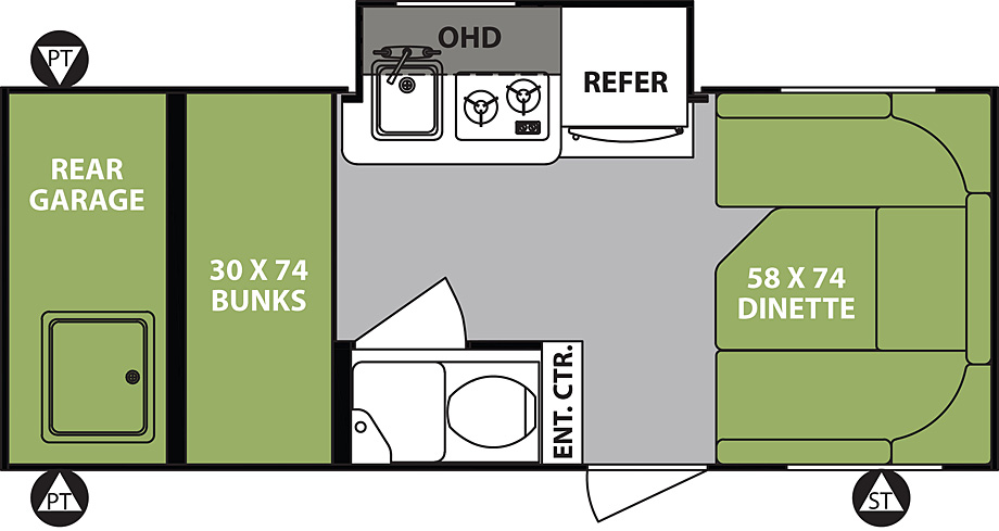 2018 Forest River R-Pod 182G Floor Plan