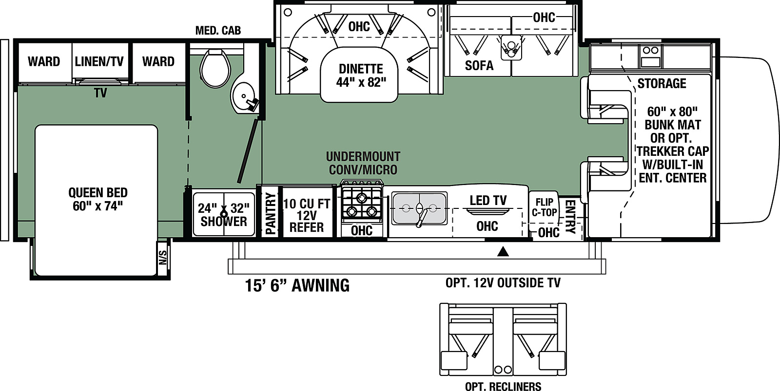 2021 Forest River Forester Classic 3011DS Floor Plan
