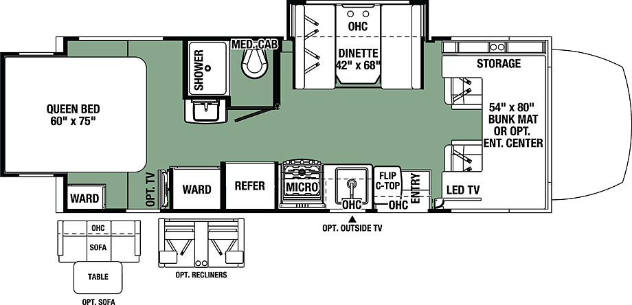 2018 Forest River Forester MBS 2401R Floor Plan