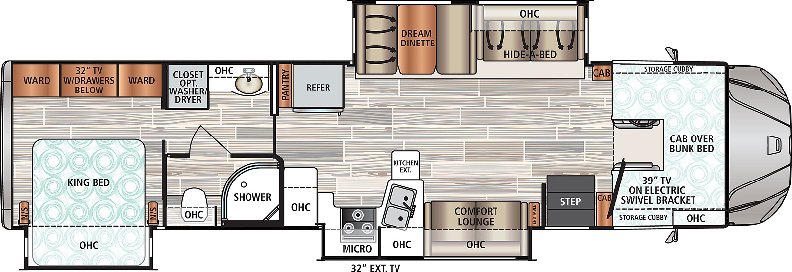 2021 Dynamax Force HD 37TS Floor Plan