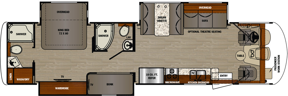2019 Forest River Georgetown GT5 36B5 Floor Plan