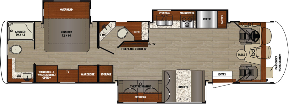 2019 Forest River Georgetown GT5 34H5 Floor Plan