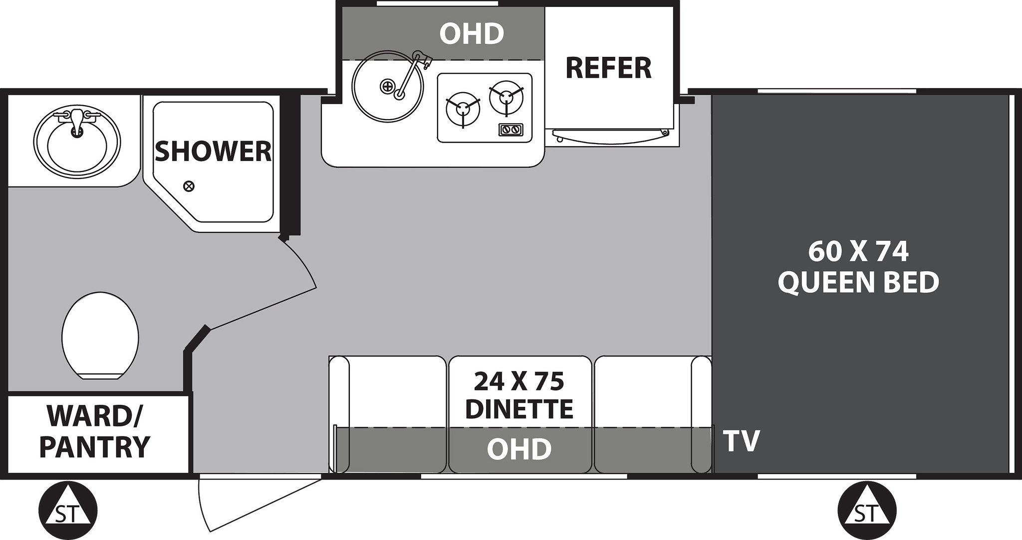 2020 Forest River R-Pod 180 Floor Plan
