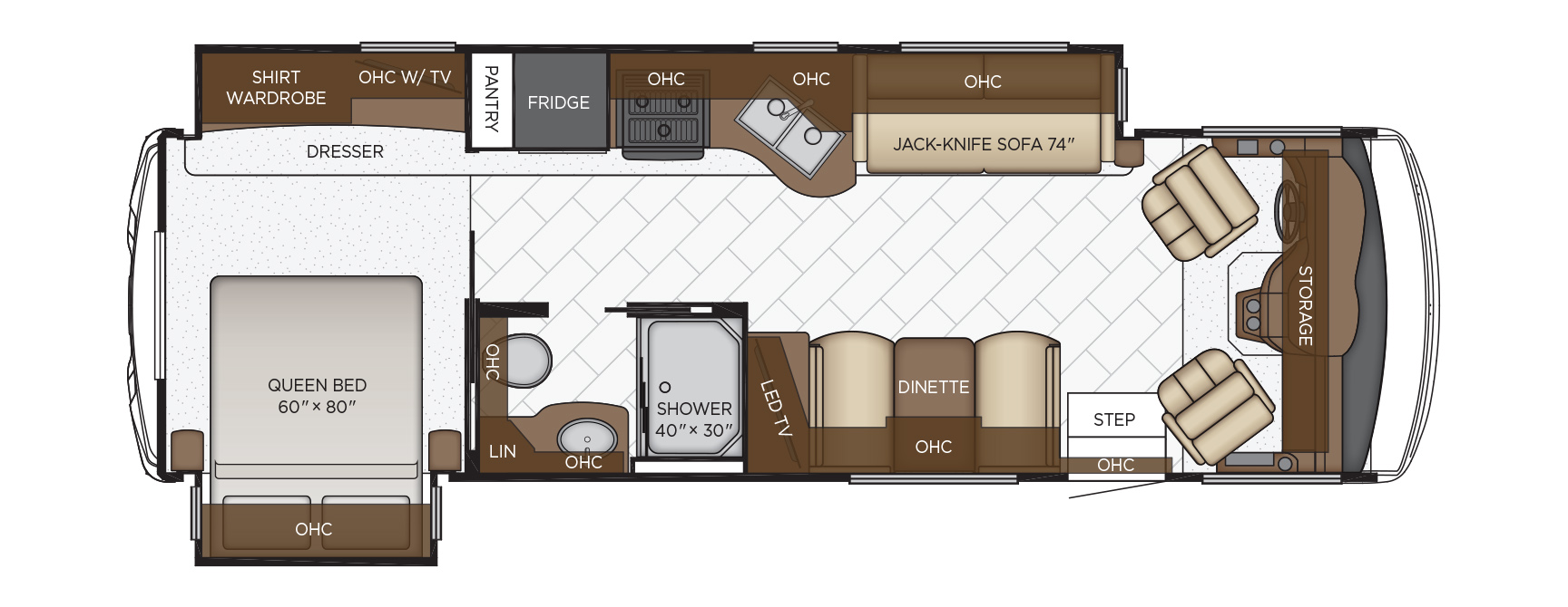 2020 Newmar Bay Star 3014 Floor Plan