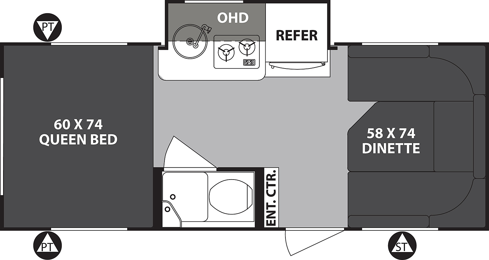 2019 Forest River R-Pod 178 Floor Plan