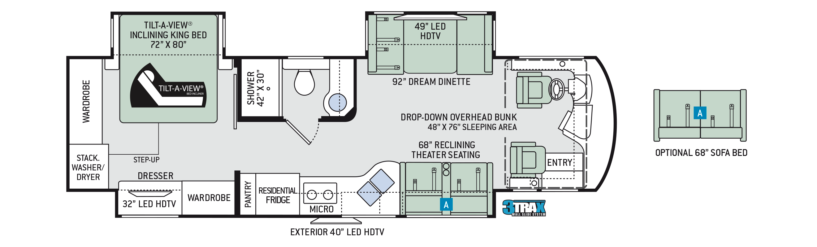 2018 Thor Aria 3401 Floor Plan