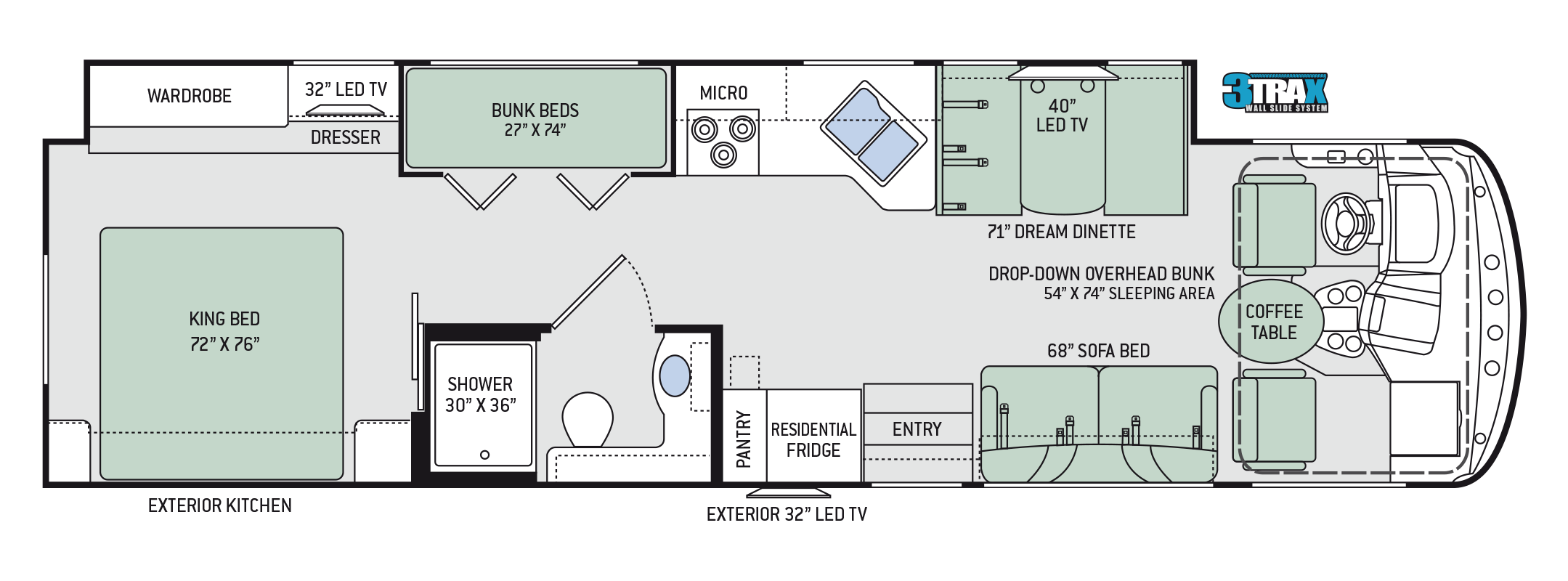2018 Thor Windsport 34J Floor Plan