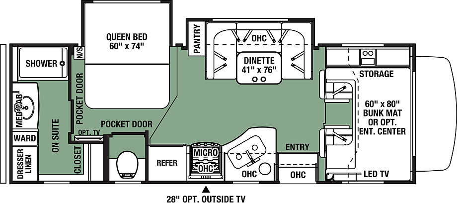 2018 Forest River Forester 2421MS Floor Plan