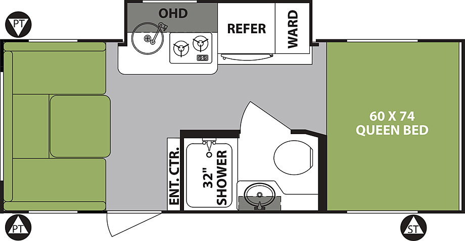 2019 Forest River R-Pod 190 Floor Plan