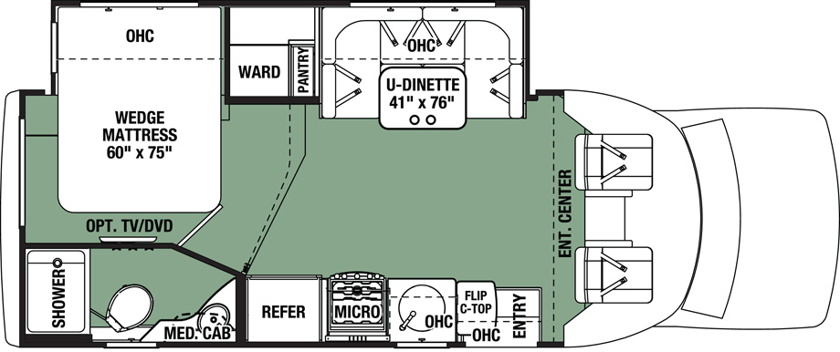 2017 Forest River Forester GTS 2431S Floor Plan